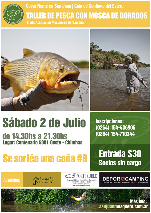 Taller de Pesca con Mosca de Dorados por Cesar Neme